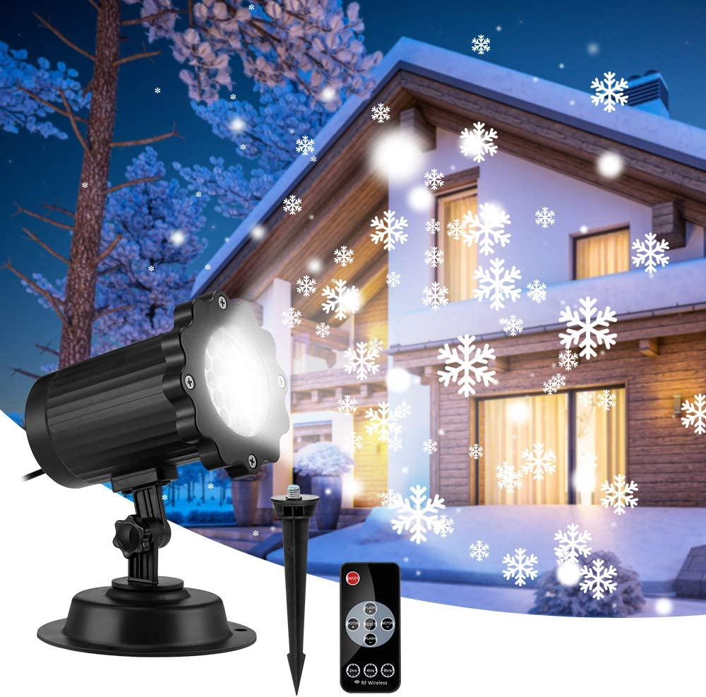 ANLW Projector Lamp Window Projector Spotlight Christmas Decoration Halloween Projector Waterproof LED12 Mode Landscape Projector Lamp