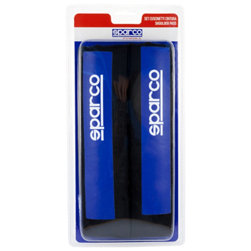 31 x 15 x 4 cm Blau Schwarz Sparco Corsa SSPC1201 Gurtpolsterungsset