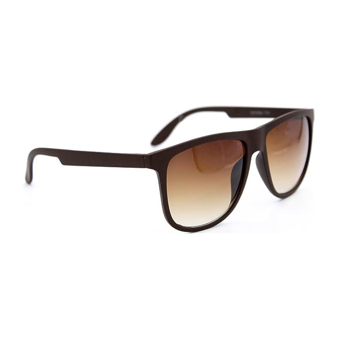 iSurf - Gafas de sol con montura negra de goma, lente plana ...