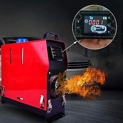 Calefacción de estacionamiento diésel 12 V/24 V, 5 kW, calefacción de estacionamiento, bomba de aire con mando a distancia, pantalla LCD para RV, caravana, camión, barcos: Amazon.es: Bricolaje y herramientas