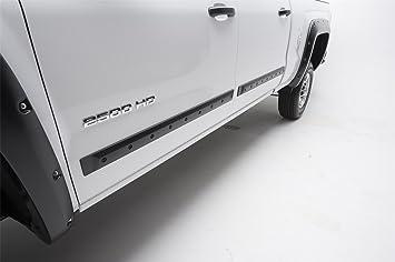 Bizon Custom cuerpo lateral Moldura 2008 - 2018 Chevy Silverado GMC Sierra Crew Cab o doble cabina perno de estilo: Amazon.es: Coche y moto