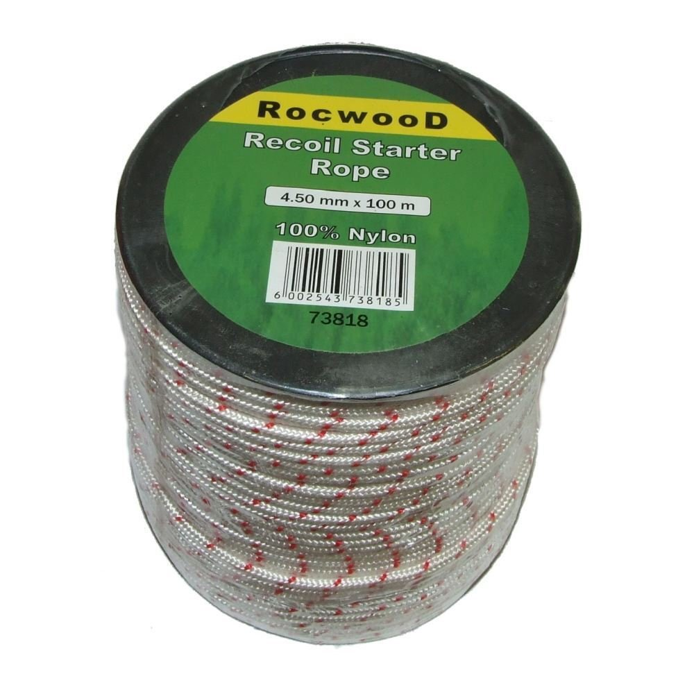 4.5mm Starter Pull Cord Rope 100 M Metre Roll Fits Lawnmower Rocwood