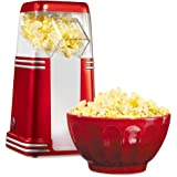 Nostalgia Hot Air Popcorn Maker/ 1100W Healthy Fast Popcorn Machine, No Oil Needed, Easy to Clean, 220V
