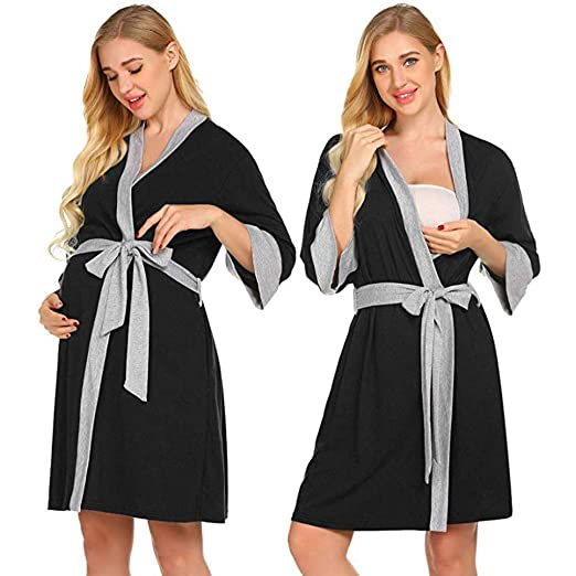 Womens Maternity Nightgowns, Adjustable Belt Delivery/Labor/Nursing ...
