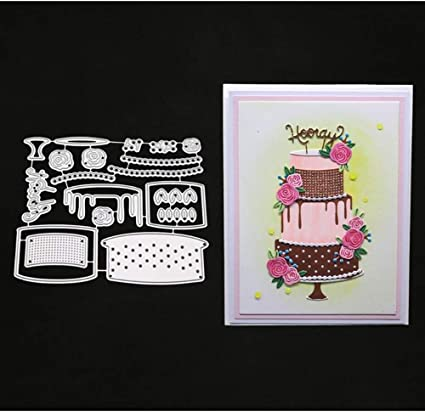 Birthday Cake Metal Cutting Dies Scrapbooking Album Embossing Crafts Gift Card