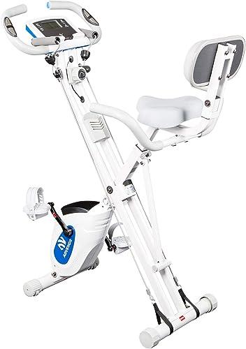 ADVENOR Exercise Bike Magnetic Bike Fitness Bike Cycle Folding Stationary Bike Arm Resistance Band