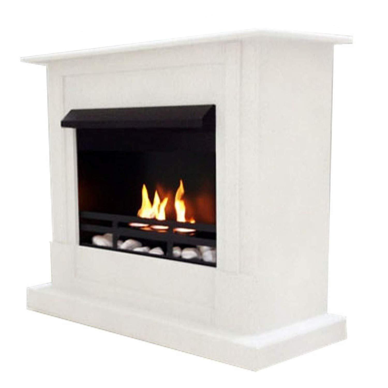 ジェル+ ethanol fire-places Emilyデラックスinclusive : 1調節可能なstainless-steel Burner ホワイト 10080 B00CCYWX84 ホワイト