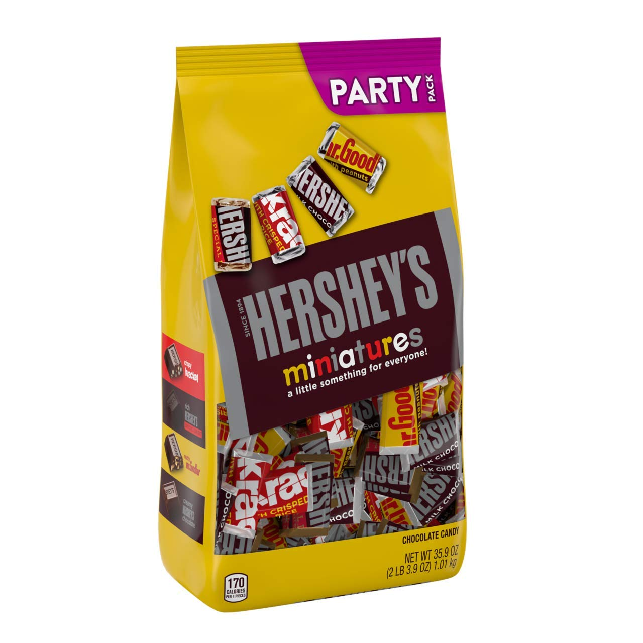 Hershey'S Miniatures Halloween Candy Assortment, Chocolate, 35.9 Oz
