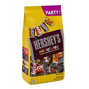 Hershey'S Miniatures Halloween Candy Assortment, Chocolate, 35.9 Oz