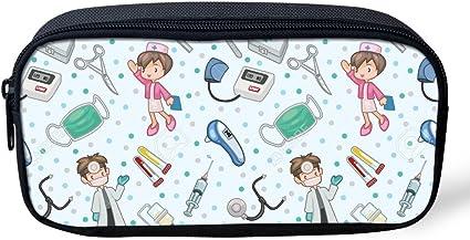 Coloranimal - Estuche de lápices para niños con impresión de enfermera, material escolar y de oficina, color nurse patter-8. 8.66 inch(L) x1.77 inch(W) x4.33 inch(H): Amazon.es: Oficina y papelería
