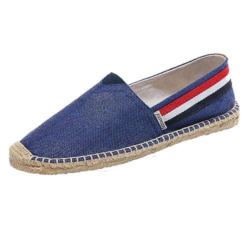 YOUJIA Unisex Adulto Alpargatas Vintage Estilo étnico Plano Slip-On Zapatos de Verano: Amazon.es: Zapatos y complementos
