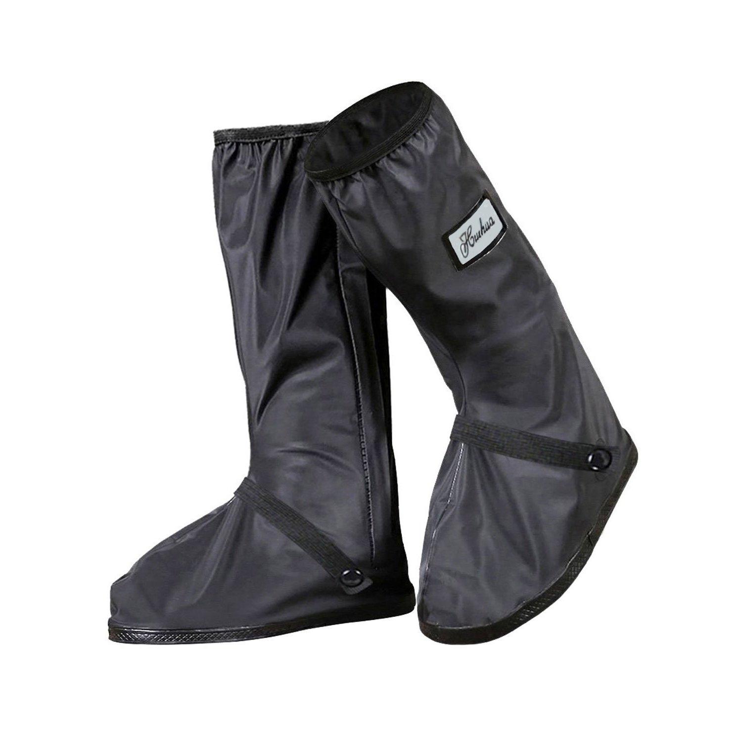 YMTECH Regenuuml;berschuhe Wasserdicht Schuhe 1 Paar, Outdoor Rutschfester Radsportschuhe Uuml;berschuhe  40 - 41 EU|Schwarz