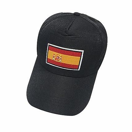 2018 España Gorras De Béisbol De La FIFA Moda Unisex Negro Gorras De Tenis  De La a217a881fff