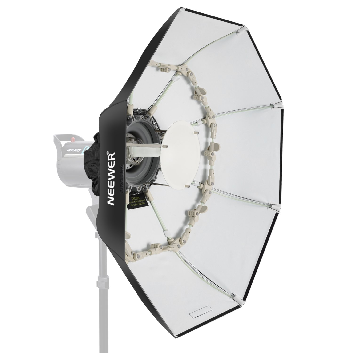 Neewer 27.5 inches/70 centimeters Folding Beauty Dish Octagonal with Center Deflector Disc, Removable Front Diffuser and Bowens Speed Ring for Monolight Studio Flash in Portrait and Event Photography 10091599
