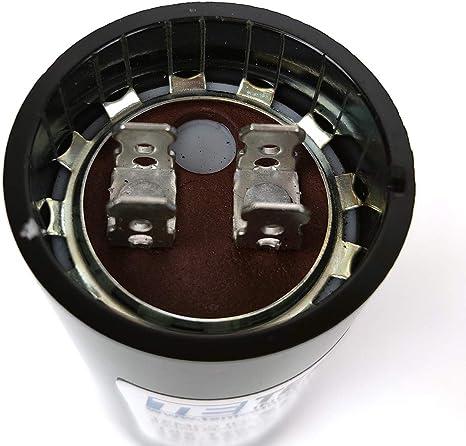 NTE Electronics MSC125V72 Series MSC Motor Start AC Electrolytic Capacitor 72-86 /µF Capacitance 110//125V Two 0.250 Quick Connect Terminals Inc. Two 0.250 Quick Connect Terminals