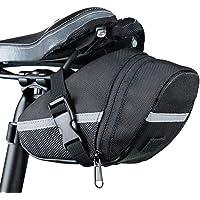 Bolsa de bicicleta, Romacci Bolsa de selim para bicicleta à prova de chuva tira reflexiva grande ty MTB acessórios para…