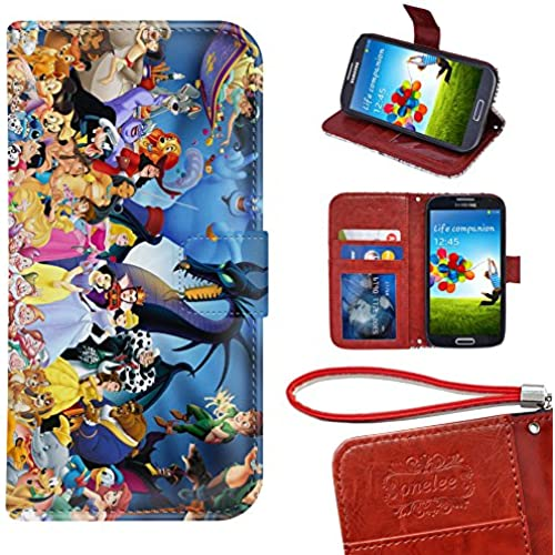 Samsung Galaxy S7 Edge Wallet Case, Onelee - Disney all characters Premium PU Leather Case Wallet Flip Stand Case Cover for Samsung Galaxy S7 Edge Sales