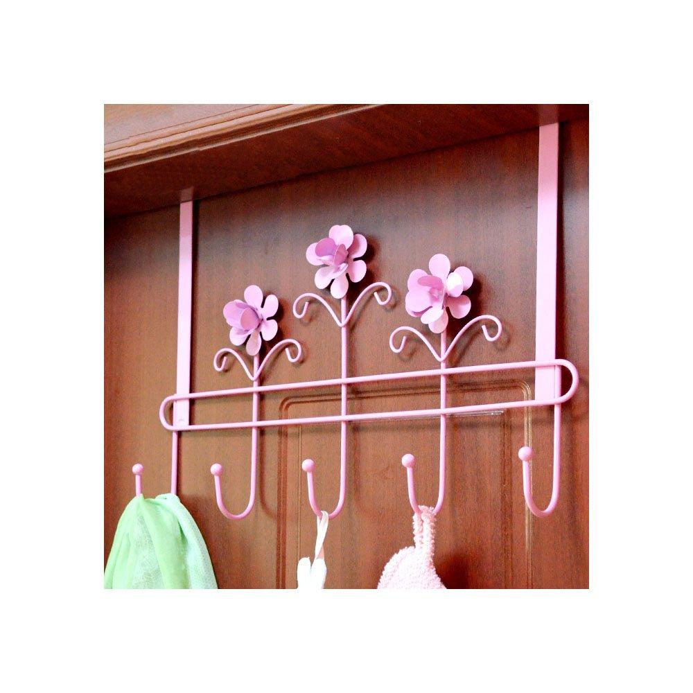 Coat hanger hanging coat rack hanger back door (Pink) SOGNIMIEI