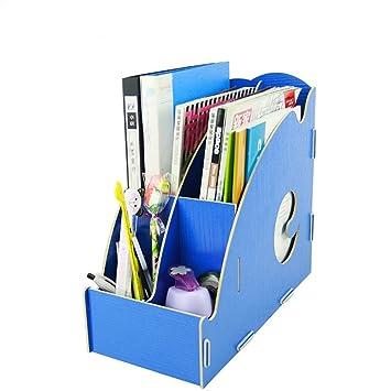Sede de mesa revistero DIY – Portalápices Clip Organizer archivador carpeta 2 carpetas papel A4 +