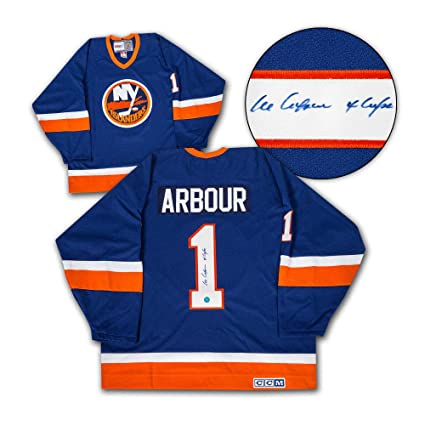 Al Arbour New York Islanders Autographed Retro CCM Hockey Jersey at ... ad5bf55541d