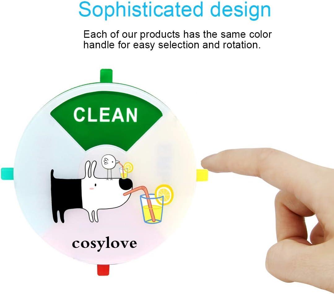 r/ésistant /à leau rotation facile Aimant indicateur pour lave-vaisselle forme ronde aimant anti-rayures pour toute surface magn/étique