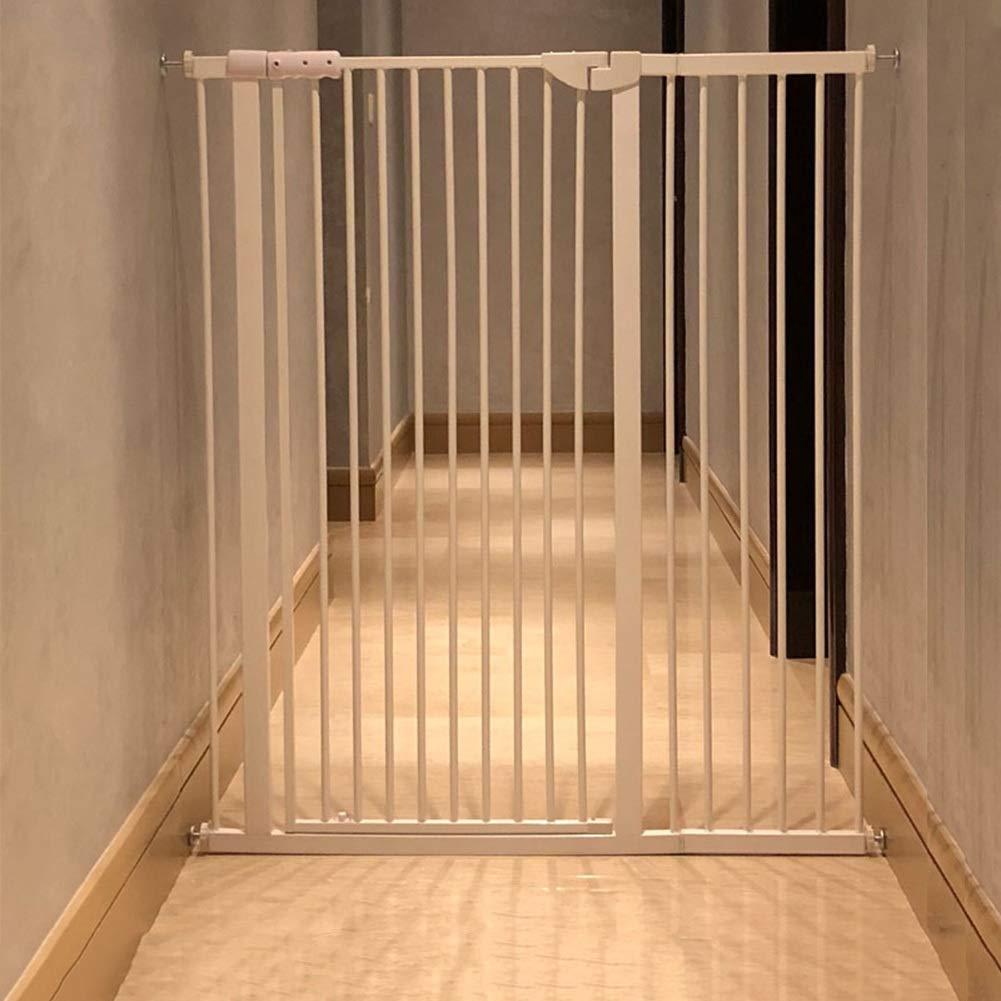 階段出入り口のエクストラワイドと背の高いベビーゲート、猫/犬のドアの圧力マウントメタルペットゲート、120 Cm高さ、白 (Size : 104-110CM) 104-110CM  B07SWT9GMG
