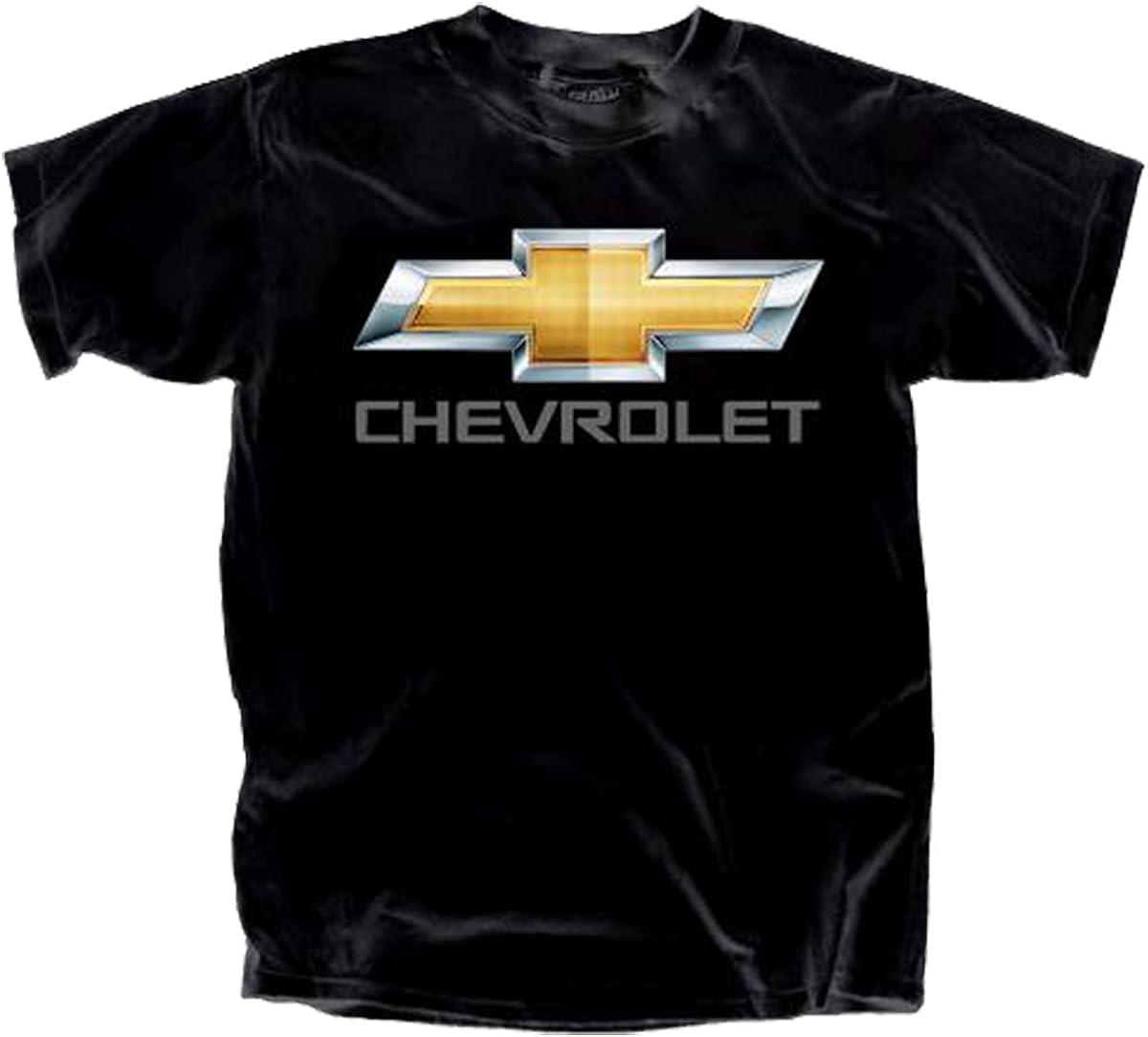 Gildan Mens Chevy Bowtie Chrome Logo T-Shirt