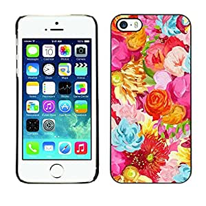 For Apple iPhone 5 / iPhone 5S,S-type® Spring Blue Flowers Floral - Arte & diseño plástico duro Fundas Cover Cubre Hard Case Cover