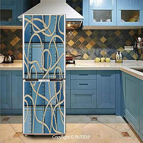 PUTIEN Customized Door Fridge Sticker Closet Cover DIY Self Adhesive Removable Waterproof Vinyl -
