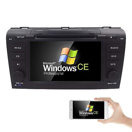 Navegador Hizpo para el coche, pantalla táctil, 7 pulgadas, HD, para Mazda