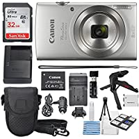 Canon PowerShot ELPH 180 Digital Camera (Silver) + 32GB...