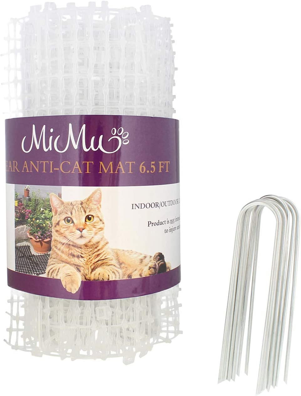 MiMu Dog & Cat Deterrent Mat Outdoor & Indoor Cat Scat Spike Mat Cat Repellent Spikes - Continuous Roll in Clear