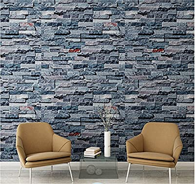 Birwall Cutral Faux Brick Stone Wallpaper 3d Kitchen Living Home Decoration