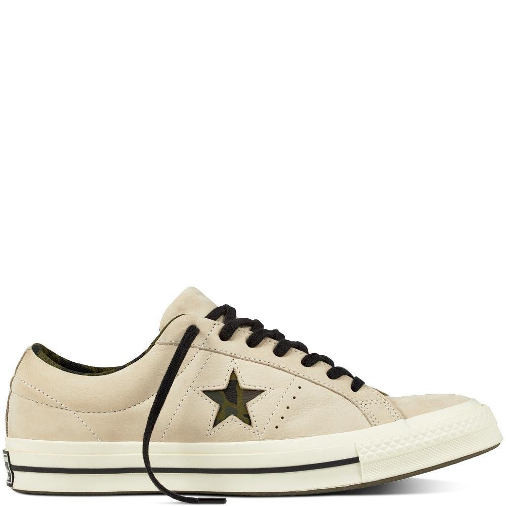 Converse Lifestyle One Star Ox Nubuck, Zapatillas de Deporte Unisex Adulto 44 EU|Blanco (Egret/Black/Herbal 107)
