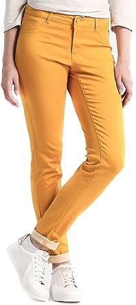Naf Naf Pantalones Power Mostaza 42 Amarillo Amazon Es Ropa Y Accesorios