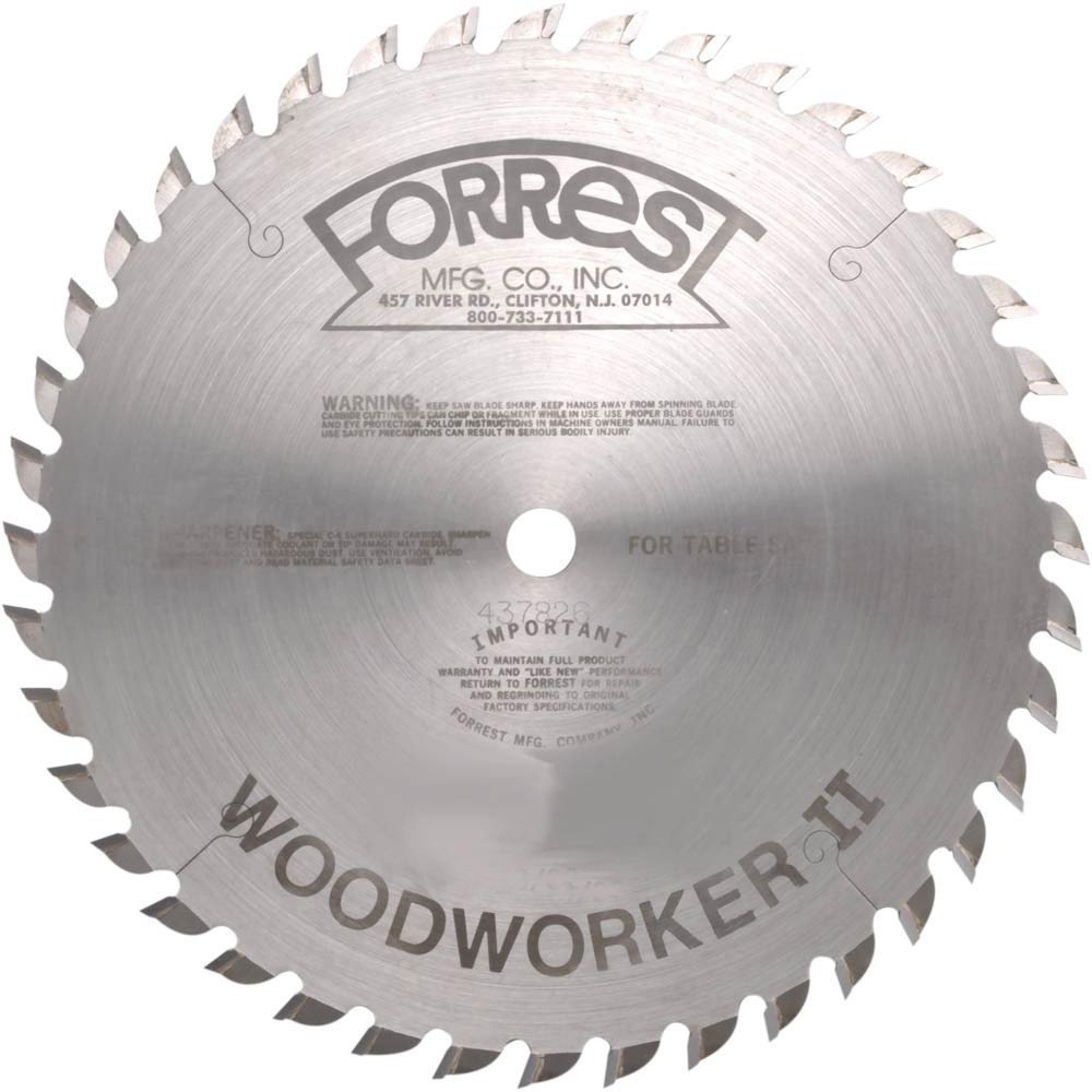 10 in x 40T ATB Forrest Woodworker II General Purpose Blade by Forrest
