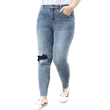 CuteRose Womens Stretch Denim Skinny Yoga Jeans Plus Size ...