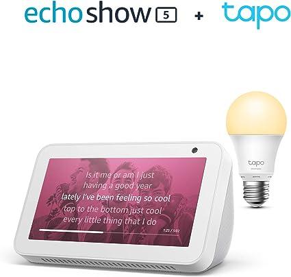 Echo Show 5 Weiß Tp Link Tapo Smart Lampe E27 Funktionert Mit Alexa Alle Produkte