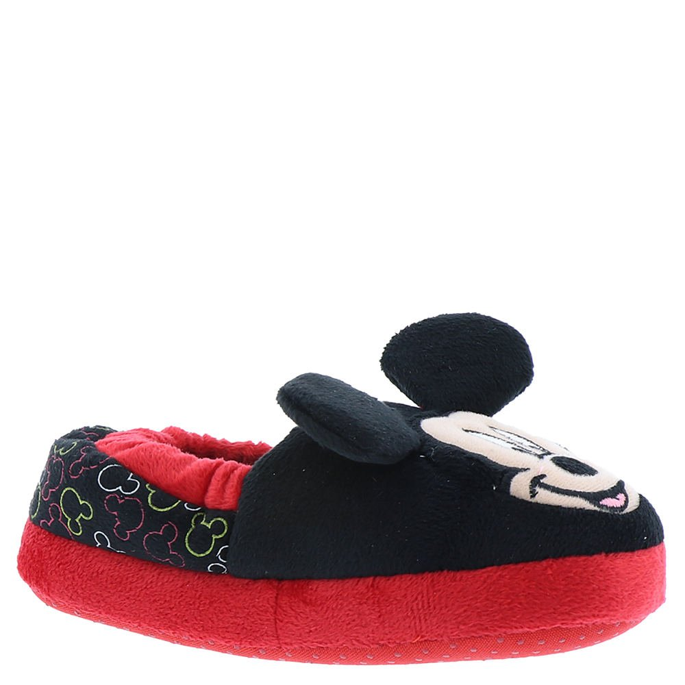 Toddler//Little Kid Black//Red Favorite Characters Boys Mickey Mouse Slippers