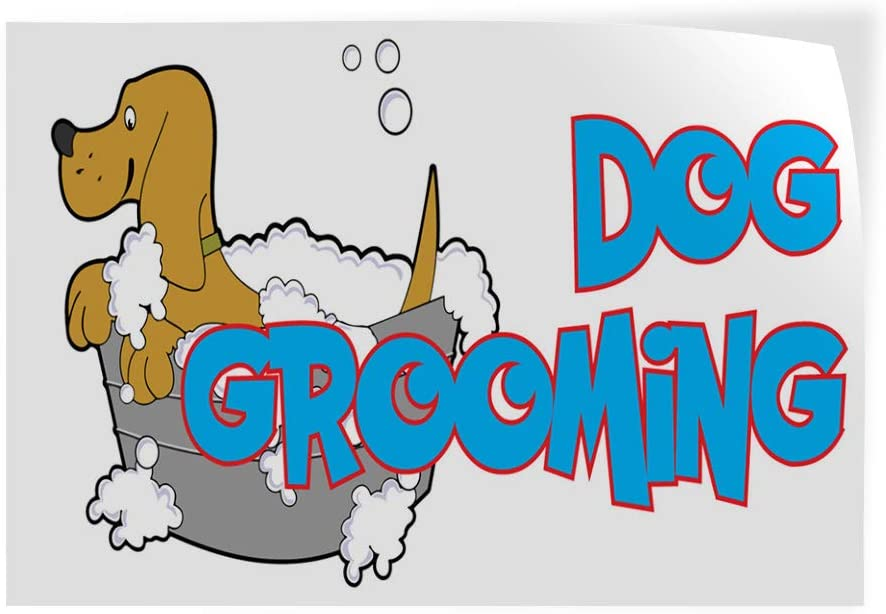 Decal Sticker Multiple Sizes Dog Grooming Business Business Dog Outdoor Store Sign Brown Set of 2 52inx34in