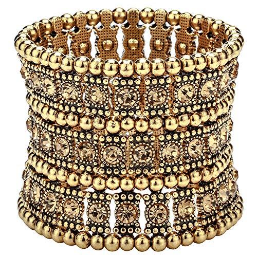 Hiddleston Multilayer 3 Row Jewelry Gothic Stretch Bracelet Armband Armlet Sleeve Arm Cuff Rocker Wristband Heavy Metal Bobo Halloween Costume Women -