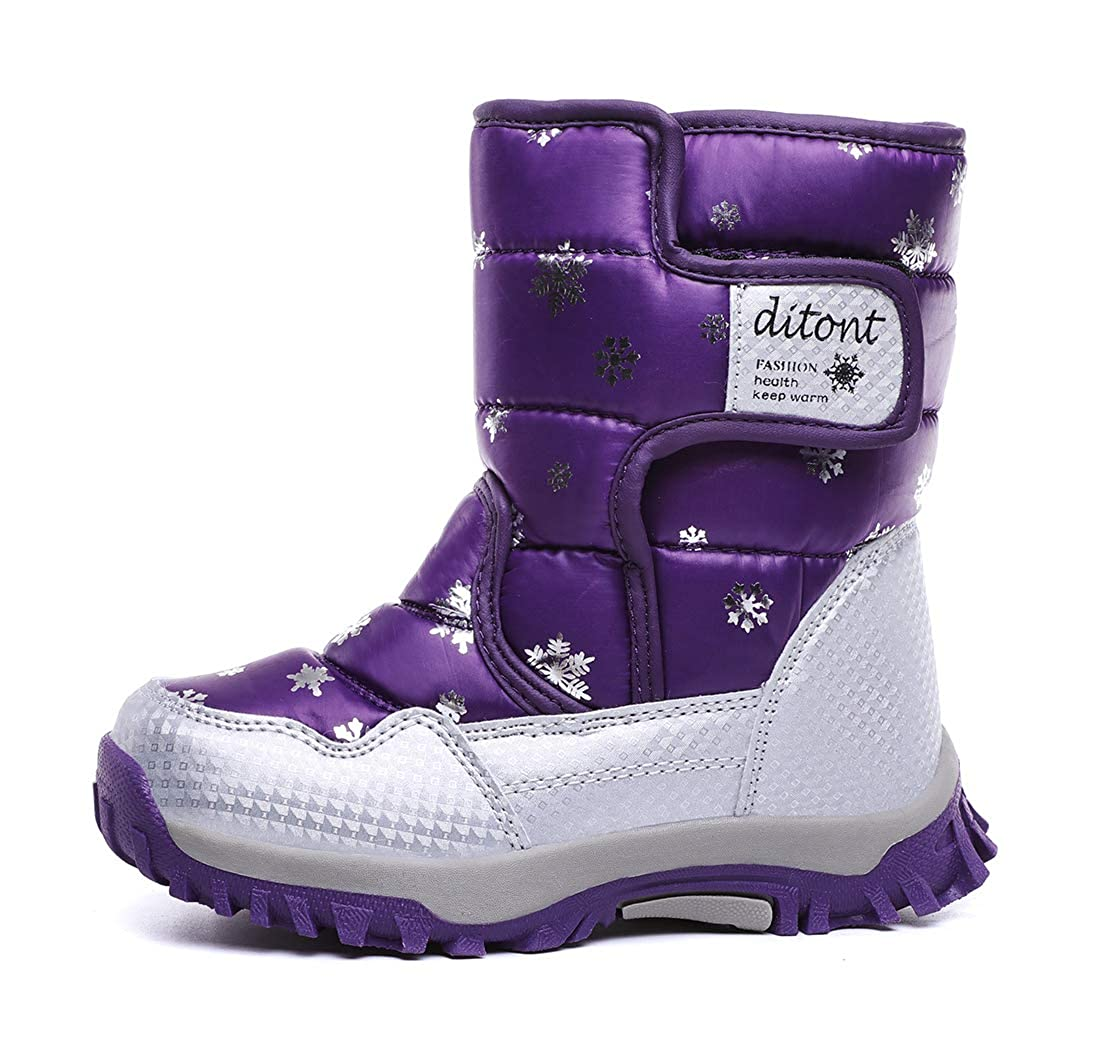 Toddler//Little Kid//Big Kid ditont Kids Girls Boys Winter Snow Boots Resistant Warm Antislip Outdoor Shoes