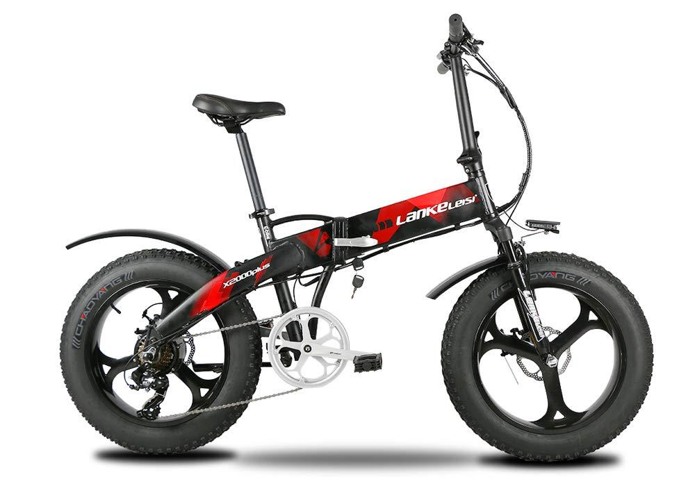 VTSP X2000 Plus 500W 48V 10AH 7スピードファットタイヤ電動マウンテンバイク B07GGLSKWR  Red