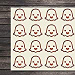 Happy Emoji Halloween Ghost Craft Stickers, 44 Stickers at 1.5 Inches, Great Shapes for Scrapbook, Party, Seals, DIY Projects, Item 868025
