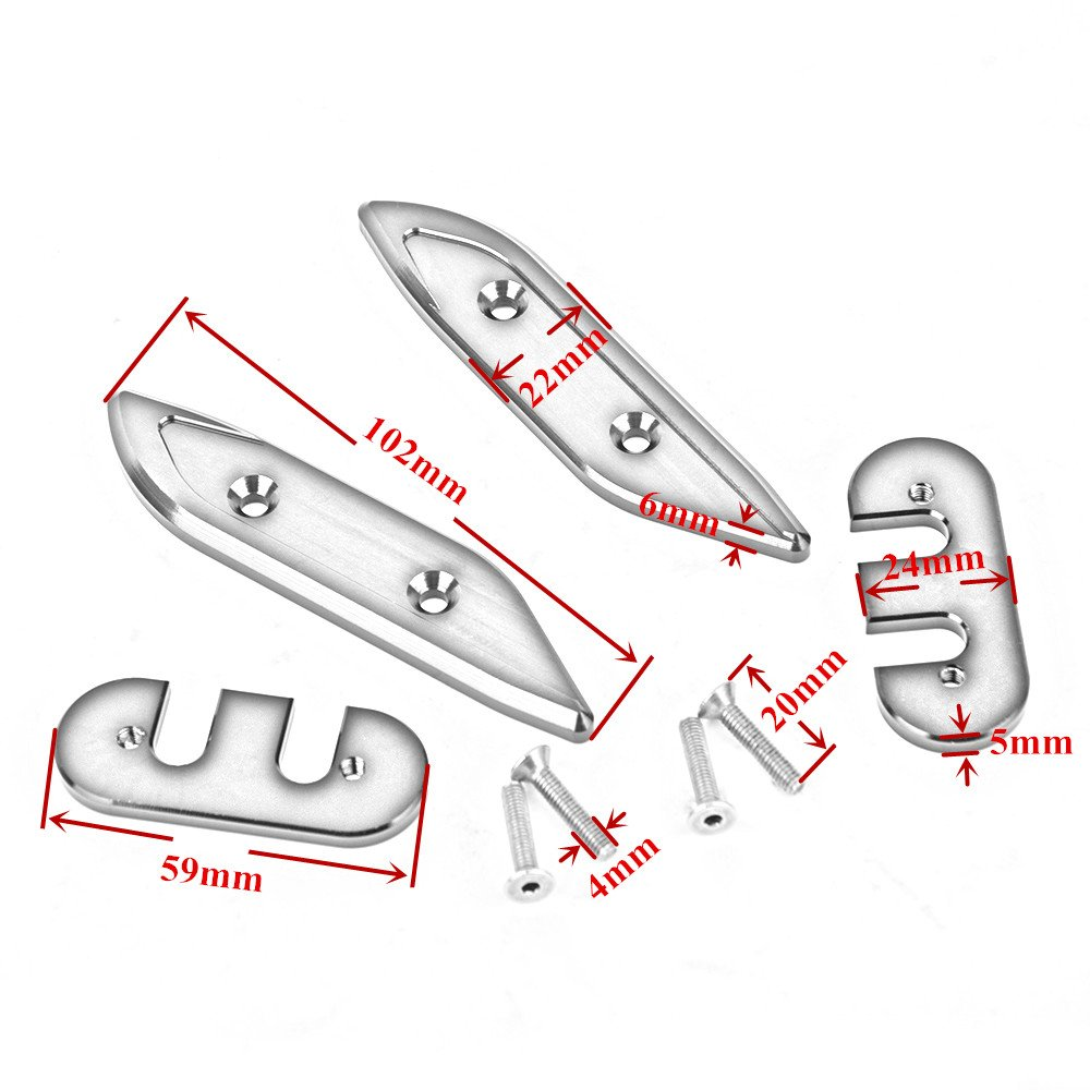 Accessori moto CNC in alluminio foro specchio tappo copertura
