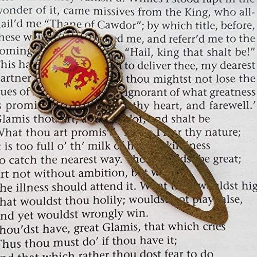 Schottland-Wappen Lesezeichen Geschenke f/ür gelesenen Liebhaber Go Forward Lesezeichen f/ür lesende Enthusiasten