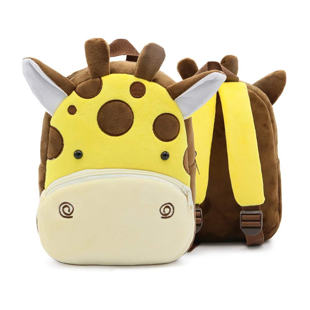 かわいいぬいぐるみ 幼児 キッズ 男の子 動物 バックパック ショルダーバッグ 5歳未満 可愛い豚 A B07J5YVLT2 Animal Giraffe