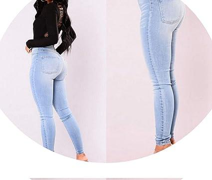 Amazon.com: Llegadas en y Denim Skinny pantalones de cintura ...