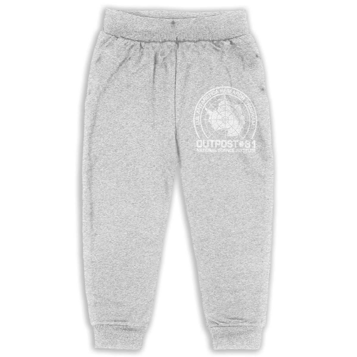 DaXi1 Outpost 31 Antarctica Research Sweatpants for Boys /& Girls Fleece Active Joggers Elastic Pants