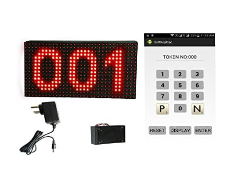 HEXTEK Wireless Token Display System with Voice -Android (P10